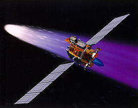 Deep Space 1 using its ion engine.jpg