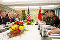 Defense.gov News Photo 110603-D-XH843-006 - Secretary of Defense Robert M. Gates meets with Chinese Defense Minister Gen. Liang Guanglie at the Shangri-La Hotel in Singapore during the 10th.jpg