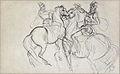Dehodencq A. - Ink & Pencil - Etude pour Don Juan d'Autriche arrivant devant Grenade - 18.9x30.4cm.jpg