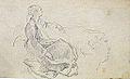 Dehodencq A. - Pencil - Jeune-femme assise et reprise de la tête - 15x9.5cm.jpg