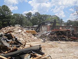 William G. Stewart Elementary School - Demolition of Stewart Elementary School (August 2011)