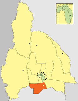 location of Sarmiento Department in San Juan Province