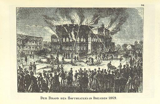 Der Brand des Hoftheaters in Dresden 1869