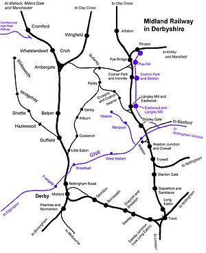 Midland Railway Ripley Branch - Image: Derby Midland Railway
