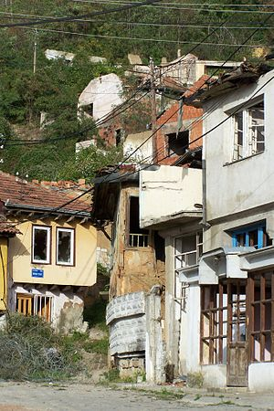 Protected Spatial Cultural-Historical Units (Serbia) - Image: Destroyed Serbian houses in Prizren, Sep. 18, 2007