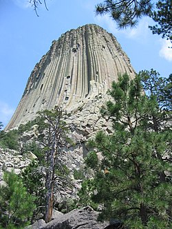 Devils Tower National Monument near the base