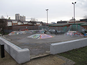 Devonshire Green - The skatepark at the Green.