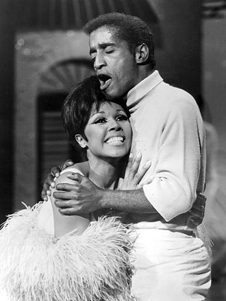 Diahann Carroll - Carroll and Sammy Davis, Jr. on The Hollywood Palace in 1968