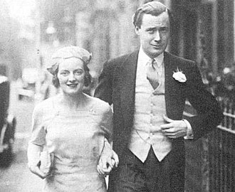Diana Churchill - Diana Churchill with her then husband Duncan Sandys in 1935.