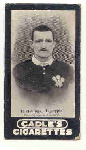 Dick Hellings - Hellings in Wales jersey