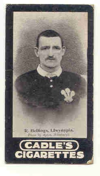 Dick Hellings - Hellings in Wales jersey