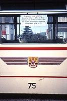 Die Thüringerwaldbahn. Gotha B2-64 Beiwagen nr 75 mit Schild, Tabarz, Aug 1991 (4371124692).jpg