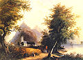 Die feindlichen Brüder bei Bornhofen am Rhein by Karl Bodmer about 1830.jpg
