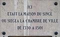Dijon plaque commémorative ancienne maison du Singe.jpg