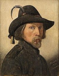 Ditlev Blunck, Selvportræt som friskarer, 1848, 0214NMK, Nivaagaards Malerisamling.jpg