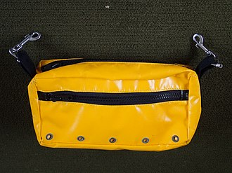 Diving equipment - Polytarp toolbag with bolt snaps for securing to harness