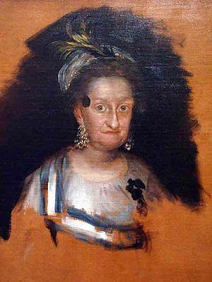 Infanta Maria Josefa of Spain - Infanta Maria Josefa (1800) by Goya, preliminary sketch for the group portrait of The Family of Charles IV