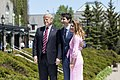 Donald Trump with Justin and Sophie Trudeau at 2018 G7 summit.jpg