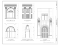 Door Details - Shoreland Arcade, 120 Northeast First Street, Miami, Miami-Dade County, FL HABS FL-573 (sheet 9 of 10).png