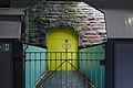 Door on footbridge of Green Lane station.jpg