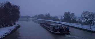 Dortmund–Ems Canal - The Dortmund-Ems canal in winter