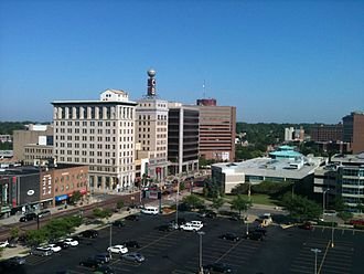 Central Michigan - Downtown Flint looking northwest, taken from the former Genesee Towers.