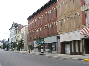 Fostoria, Ohio - Main Street in downtown Fostoria