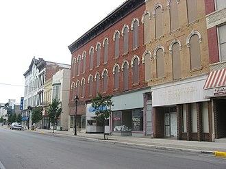 Fostoria, Ohio - Main Street in downtown Fostoria