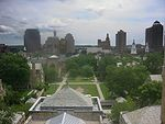 Downtown New Haven from Sterling Library.JPG