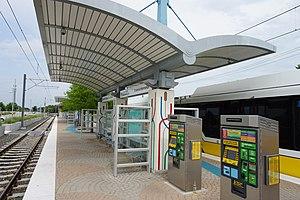 Downtown Rowlett (DART station) - Downtown Rowlett Station in July 2015