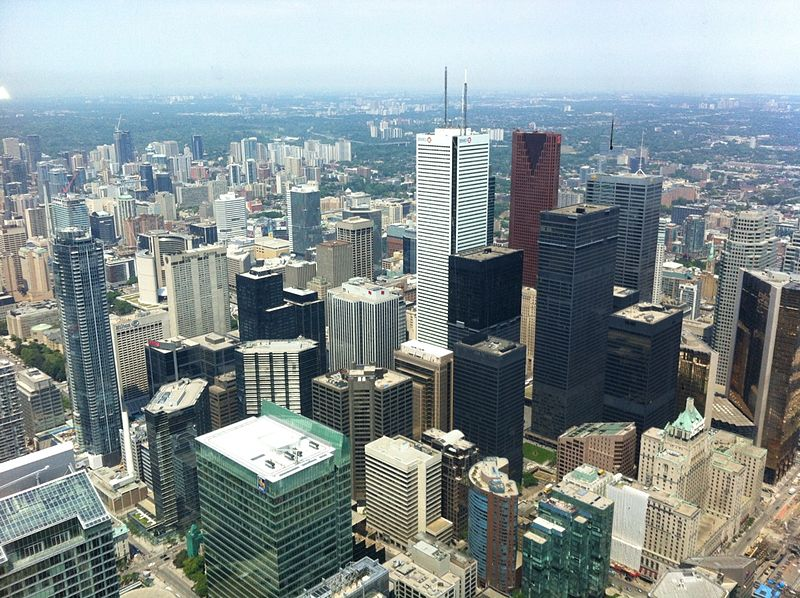 File:Downtown Toronto From CN Tower.jpg