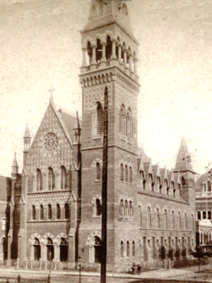 Holy Trinity Episcopal Church (Manhattan) - Image: Dr. Tyng's Church, Madison Avenue, New York, from Robert N. Dennis collection of stereoscopic views crop