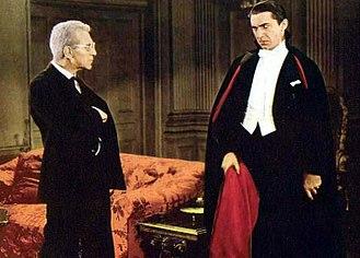 Edward Van Sloan - Image: Dracula 1931Bela Lugosi Color Crop