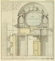 Drawing, Project- The organ and organ loft in the Cathedral in Veroli, 1796 (CH 18118847).jpg