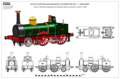 Drawings of South Australian Railways locomotive no. 1 (Peter Manning).png