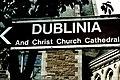 Dublin - Dublinia and Christ Church Cathedral sign - geograph.org.uk - 1615041.jpg