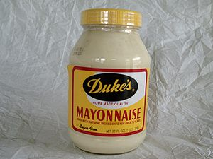 Duke's Mayonnaise . I cheated a bit to get thi...