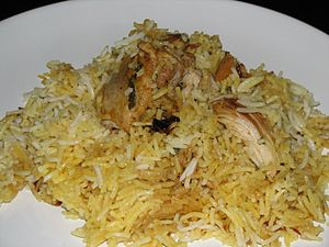 Bahraini cuisine - Biryani with chicken