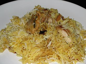 Kuwaiti cuisine - Biryani with chicken