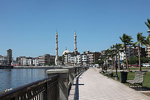 Damietta - Damietta's Corniche along the Nile.
