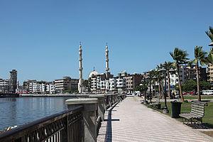 Damietta - Damietta's Corniche along the Nile.