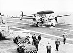 E-1B Tracer of VAW-12 landing on USS Randolph (CVS-15) c1966.jpg