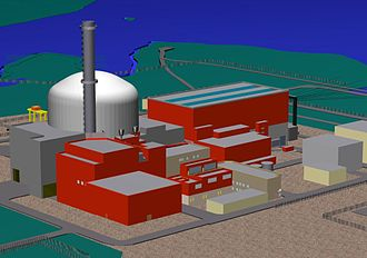 EPR (nuclear reactor) - Computer generated view of an EPR power station