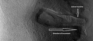 Glaciers on Mars - Image: ESP 028352 2245glacier