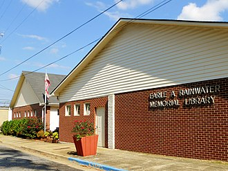 Childersburg, Alabama - Image: Earle A Rainwater Memorial Library Childersburg Alabama