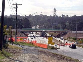 EastLink (Melbourne) - Construction of EastLink over Boronia Road in Wantirna