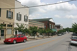 The East Main Street Historic District is listed on the National Register of Historic Places[1]