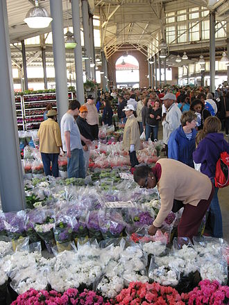 Eastern Market, Detroit - Flower market section