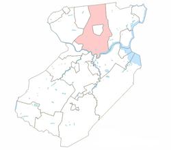 Map of Edison Township in Middlesex County