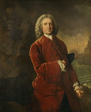 "Edward Vernon - Admiral Edward ""Old Grog"" Vernon. Portrait by Thomas Gainsborough"